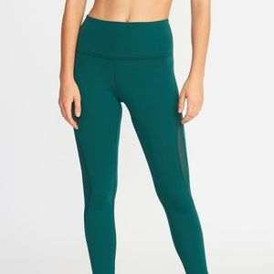 Old Navy High Rise 7/8 Leggings with Mesh Detail